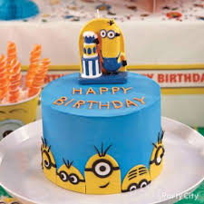 Minion Cake Decorations Despicable Me Fondant Cake How To Party City