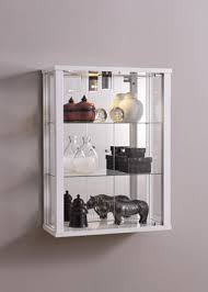 wall mounted glass display cabinet u2013 white