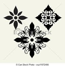 clip vector of flower ornaments 5 flower drawing with floral