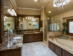 bright traditional master bath coliseum granite countertops tile