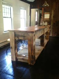 Rustic Kitchen Islands Hand Crafted Rustic Kitchen Island By E B Mann Custommade Com
