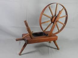 Table Top Herb Garden Vintage Spinning Wheel Planter Wood Wooden Table Top Decorative