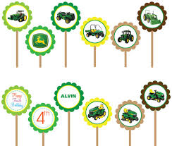 deere cake toppers cupcake toppers flickr