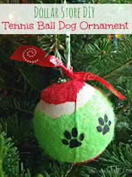 dollar store diy tennis ball dog ornament miss molly says