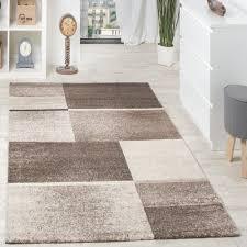 Schlafzimmer In Braun Beige Designer Teppich Felder Kariert Beige Creme Design Teppiche
