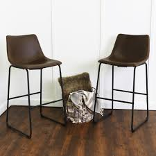 Kitchen Furniture Company by Walker Edison Furniture Company Wasatch 25 In Brown Bar Stool