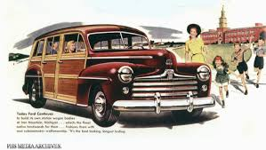 green station wagon with wood paneling 1946 ford woody station wagons phscollectorcarworld
