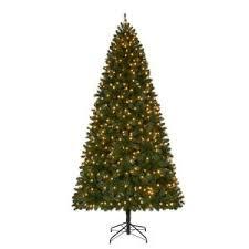 home accents 9 ft pre lit led wesley spruce set