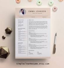 Unique Resume Template Resume Template Free Cover Letter By Kingdom Of Design On