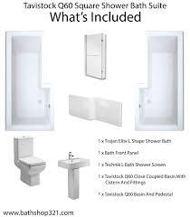 tavistock q60 square shower bath suite bathshop321 more views