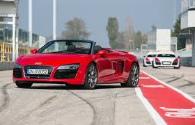 audi v10 convertible 2014 audi r8 v10 plus and v10 spyder drive motor trend