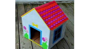 make house how to make a doghouse from recycled cardboard greendiary