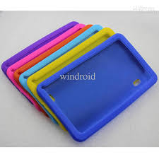 android tablet cases cheap colorful soft silicone protective cover for 7 inch via