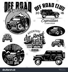 land rover logo vector set vector templates suvs offroad sport stock vector 476820217