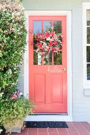 coral front door exterior pinterest