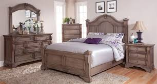 American Woodcrafters Heirloom Poster Bedroom Set Pewter Bedroom Sets Bedroom