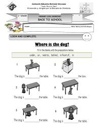worksheets on prepositions worksheets