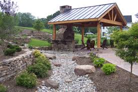 Backyard Pavilion Plans Ideas Main Street Landscape Design Patios Landscaping In Images With
