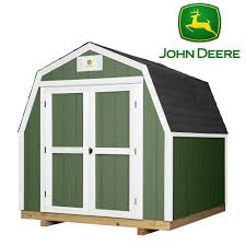 backyard discovery ready shed john deere 8 ft x 8 ft prefab wood