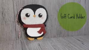 diy gift card holder felt penguin