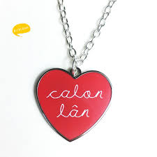 long red heart necklace images Pre order red heart calon l n cloisonne necklace welsh pure heart jpg