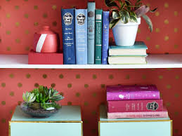 brighten your bookshelf with two toned diy bookends hgtv