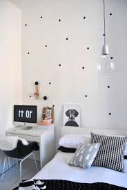 Decorating A Black And White Bedroom Say It With Spots A Dotty Way To Decorate The Chromologist