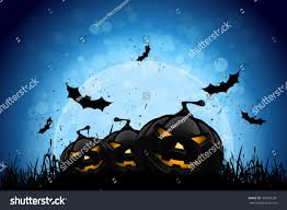 halloween photo backgrounds halloween party background pumpkins grass bats stock vector