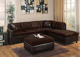 Reversible Sectional Sofa with Modern Sectional Sofa 10100 Chocolate