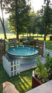 Beautiful Pool Backyards Diy Galvanized Stock Tank Pool To Beat The Summer Heat Amazing