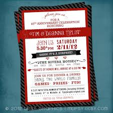 surprise party invite or milestone wedding anniversary by