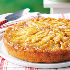 gingered apple upside down cake recipe taste of home