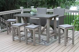 Patio High Table And Chairs by Teak Wood Rectangle Bar Table With Brown Composite Top