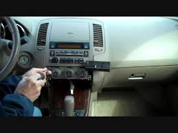 2006 Nissan Altima 2 5 S Interior How To Nissan Altima Bose Car Stereo Radio Removal 2005 2006