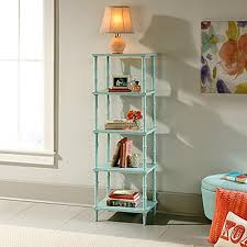 sauder eden rue seafoam open etagere bookcase 419516 the home depot