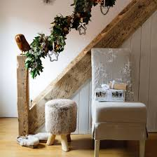 Banister Christmas Garland Christmas Hallway Ideas Ideal Home