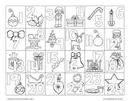 44 christmas coloring calendar images calendar