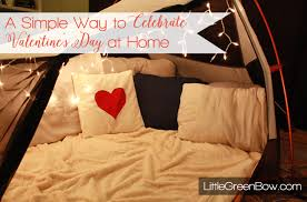 celebrate valentines day at home