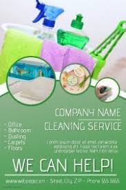 cleaning service poster templates postermywall