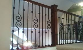 Wrought Iron Banister Rails Houston Stair Remodel Iron Balusters Installation In Houston