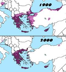 Greece Map Outline by Distribution Of Greeks In 1900 And 2000 History European