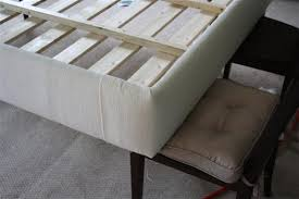How To Build A Cal King Platform Bed Frame by How To Build An Upholstered Bed View Along The Way