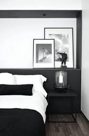 chambre noir et blanche chambre noir et blanche avec design chambre coucher chambre