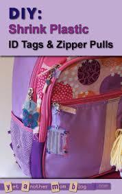 diy shrink plastic id tags u0026 zipper pulls u2014perfect for backpacks