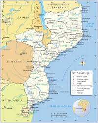 Rwanda Africa Map by Political Map Of Mozambique Nations Online Project