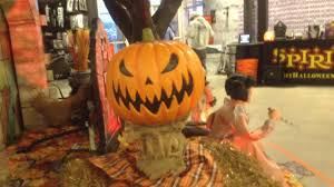 spirit halloween hay bale popper pumpkin prop youtube