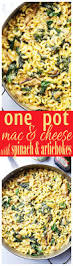 one pot macaroni and cheese with spinach u0026 artichokes diethood