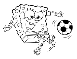 spongebob squarepants heading ball coloring boys coloring