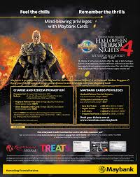 halloween horror nights hollywood coupons maybank early bird ticket discounts to halloween horror nights 4
