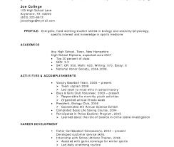 high school resume exles high school studentume template gallery of exles for highschool